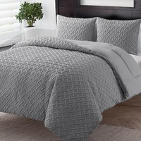 Embossed Down-Alternative Comforter Set