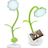 Flexible Flower USB Touch LED Lamp Phone Holder