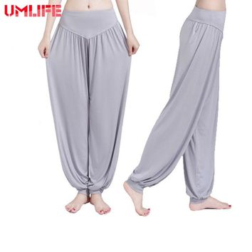 UMLIFE Yoga Pants Women Plus Size Jogging Trousers Sports Pants Fitness Gym Bloomer Dance Full Length Pants Hot Sale Breathable