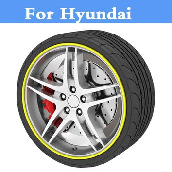 8M Car Wheel Hub Tire Sticker Decorative Styling Strip Covers For Hyundai Accent Aslan Atos Avante Centennial Tuscani Verna