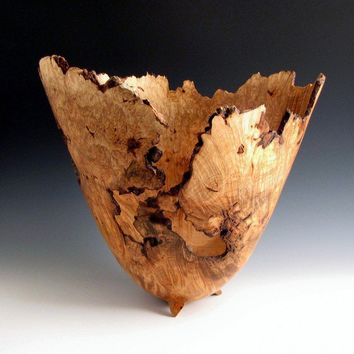 Large Ambrosia Maple Birdseye Burl Bowl by JLWoodTurning on Etsy