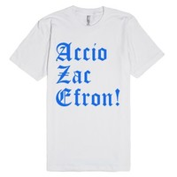 Accio Zac Efron-Unisex White T-Shirt
