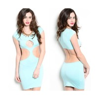 • Mint Cutout Dress •