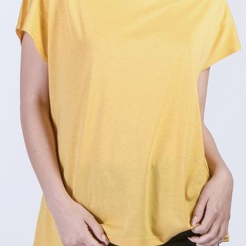 Shane Cotton Modal Tee in Mustard