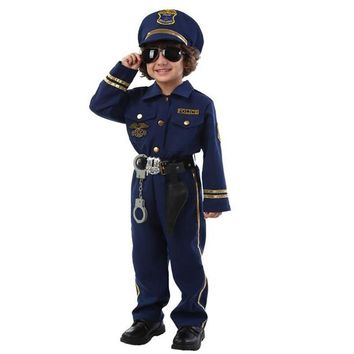 NuoNuoWell Hi-quality Halloween Party New Arrival Super Police Cosplay Costume For Kids Cute Children Costumes Boy Fancy Dress