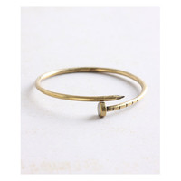 Geranium Burnish Gold Nail Bangle