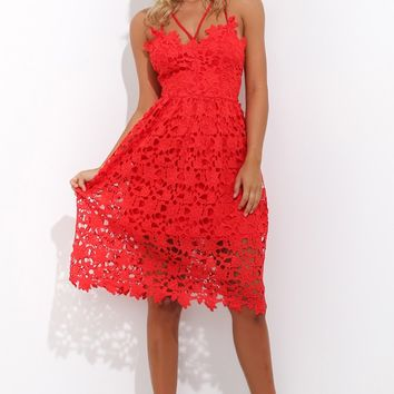 Love Train Dress Red