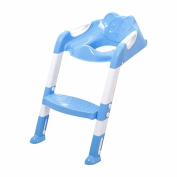Adjustable & Fold-able Children Potty Seat With Ladder