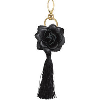 Key Ring with Leather Rose - from H&M