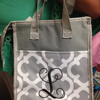 Monogram Lunch Tote/Insulated Monogram Lunch Bag/Monogram Lunch Bag/Personalized Lunch Bag
