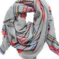 Aerie Women's Blanket Scarf (Medium Heather Grey)