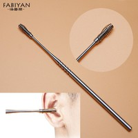 1Pcs Portable Stainless Steel Spiral Ear Pick Wax Removal Curette Cleaner Health Ear Care Stick Tools EarPick Cleaning Hygenic