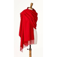 Blanket Scarf - Shawl - Stole - Wrap - Plain Luxury Scarlet