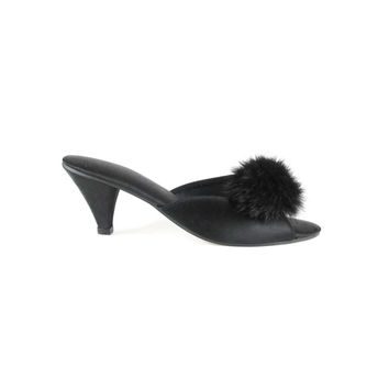 60s Maribou Feather Slippers