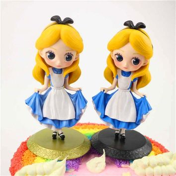 Alice Q Edition Characters Alice in Wonderland Cake ornament PVC Figure Collectible Model toys for children SD164