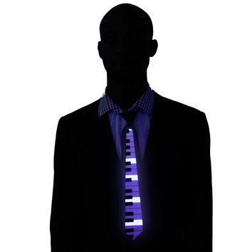 Piano Light Up LED Tie