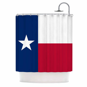 "Bruce Stanfield ""Flag of Texas"" Blue Red Shower Curtain"