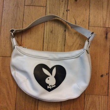 white bunny handbag