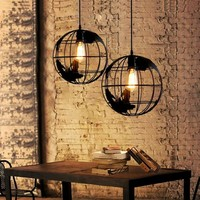 World Earth Globe Indoor Pendant Light