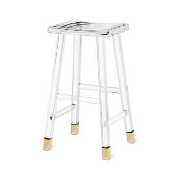 Reva Bar Stool in Brass