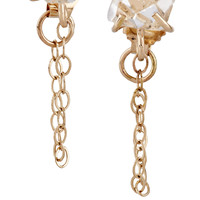 Melissa Joy Manning - 14-karat gold Herkimer diamond earrings