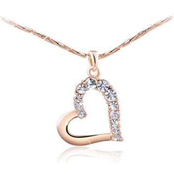 Elegantly designed Heart Necklace! With the Bling!