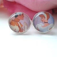Princess & Prince Stud Earrings - Stud Earrings - Earrings - Posts - Fake Plugs - Cinderella - Cinderella Earrings - Princess Earrings