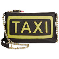 Betsey Johnson Kitsch Flashing Lights Taxi Crossbody