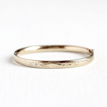 Vintage Baby Bangle - 14k Rosy Yellow Gold Filled Children s Flower Bracelet  - Tiny Love Jewelry 75217d16c