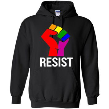 Resist Rainbow Flag National Pride March Shirt for Women Men