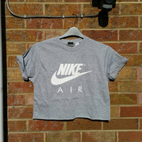 unisex customised sassy nike crop top t shirt festival swag