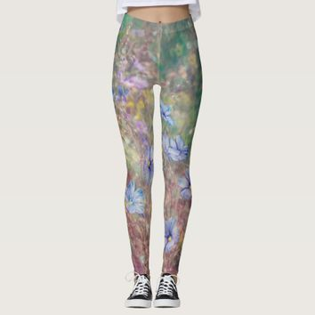 Painted Flowers Leggings