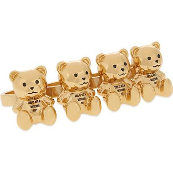 MOSCHINO - Bear knuckle ring | Selfridges.com