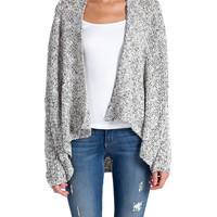 Heathered and Draped Cardigan | 2020AVE