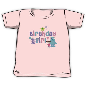 Baby Monsters Inc. University Birthday Girl Kids Clothes