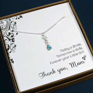 Wedding party gifts for the mothers of brides and grooms.