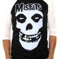 ROCKWORLDEAST - The Misfits, Baseball Jersey Shirt, Gold Tooth