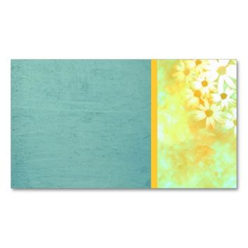 daisy business card template floral photo art