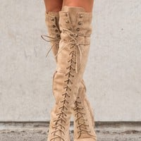Chesapeake Suede Boots (Almond)