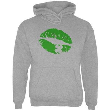 PEAPGQ9 St Patrick's Day Kiss the Blarney Stone Mens Hoodie