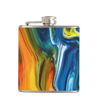 Groovy Waves of Color Flask