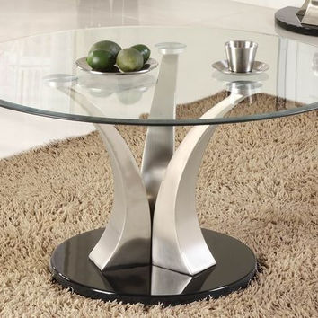 He-3400-01 Charlaine Collection Round Cocktail Table, Base