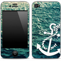 New Anchor 1 iPhone 4/4s or 5, iPod Touch 4th or 5th Gen, Galaxy S2 or S3 Skin FREE SHIPPING