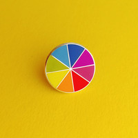 Bright Colourwheel Enamel Pin Badge - Cute Rainbow Lapel Pin