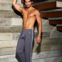 Sauvage Mens Workout Pants - Zipper Detail
