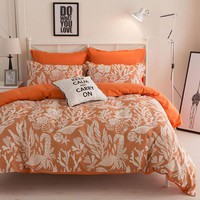 Bedding Sets Quilt Cover Pillow Cover Pillowcase Duvet Cover Bed Sheet Polyester Cotton Quilted Decoration Home Bedroom 4 PCS