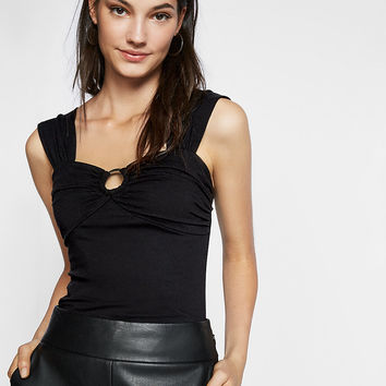 ruched o-ring tank