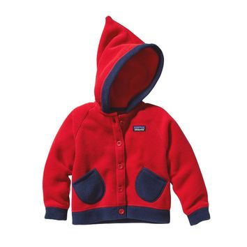 Patagonia Baby Swirly Top Fleece Jacket | Red Delicious