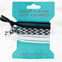 Hair and Wrist Elastics in Black and White - Urban Outfitters