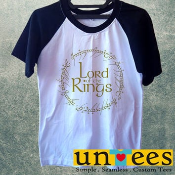 Lord of the Rings Logo Short Raglan Sleeves T-shirt